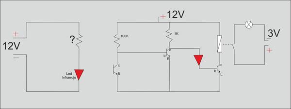 circuito emisor receptor infrarrojo  blas s robot de sumo boogerbot julio setiembre  circuitos