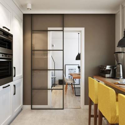 Combinar o no puerta del sal n con puerta de la cocina for Puertas correderas salon decoracion