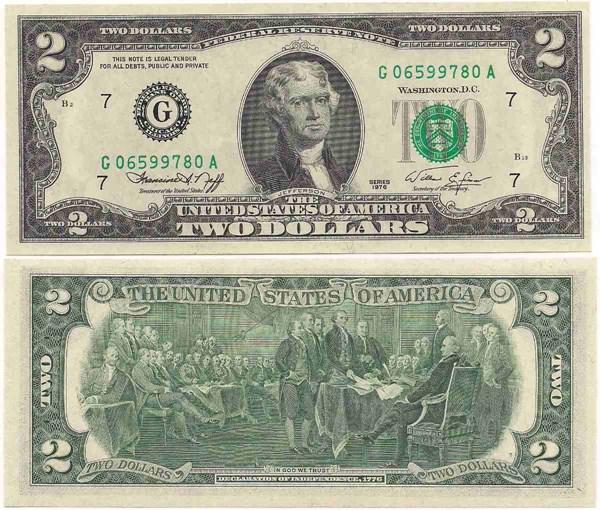 Billete de 2 dolares a o 1976 cuanto vale coleccionismo for Cuanto dinero tiene un cajero