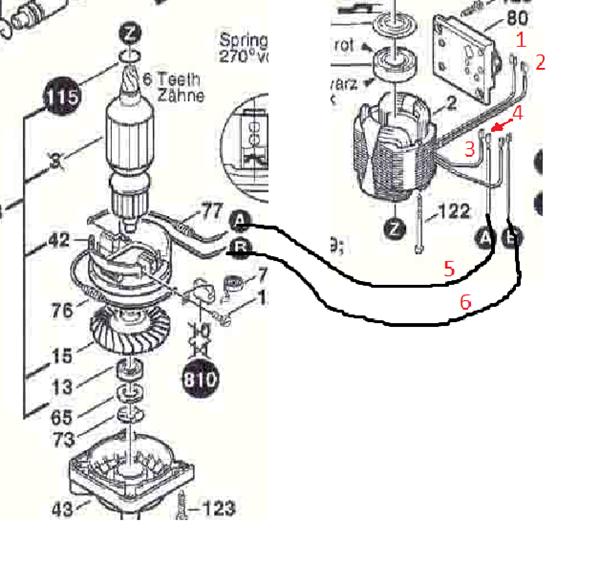 conectar motor taladro directo a la corriente