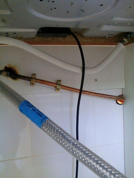 Instalaci n de gas de horno y placa fontaner a - Instalacion calentador gas natural ...