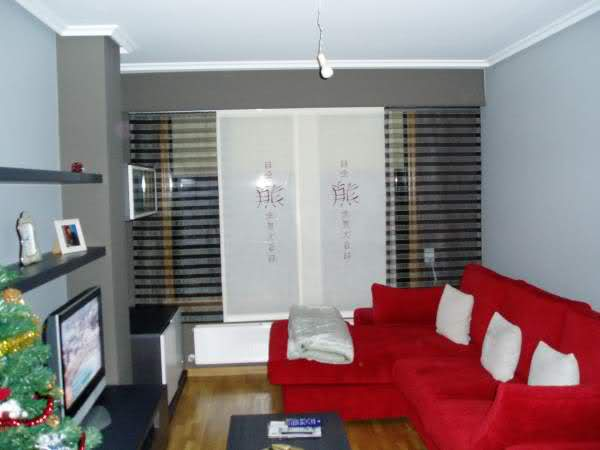 Cortinas en sal n comedor decoraci n for Cortinas para salon blanco y gris