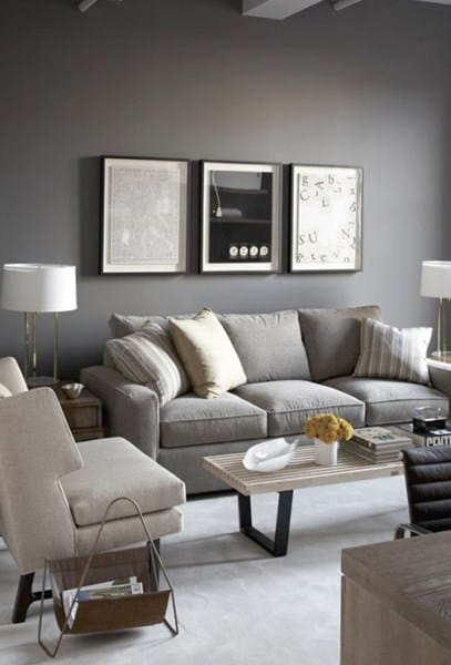 Decorar comedor con muebles wengue decoraci n - Sofa gris como pintar las paredes ...