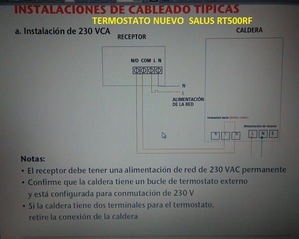 Sustituir termostato para caldera gas valliant for Termostatos inalambricos para calderas de gas