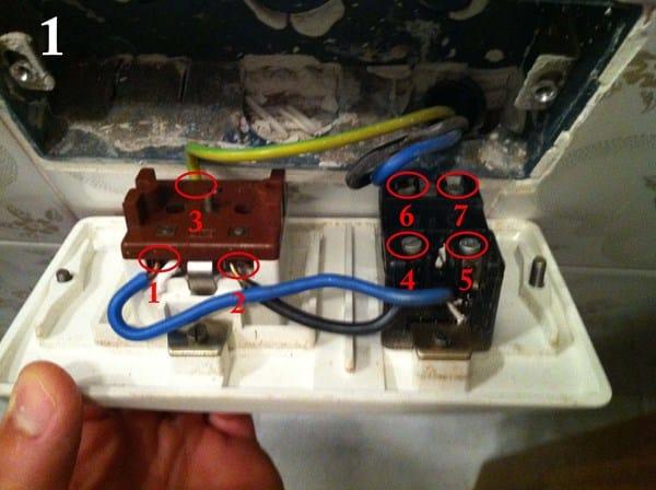Sustituci n enchufe antiguo con fusible electricidad del - Enchufe y interruptor ...