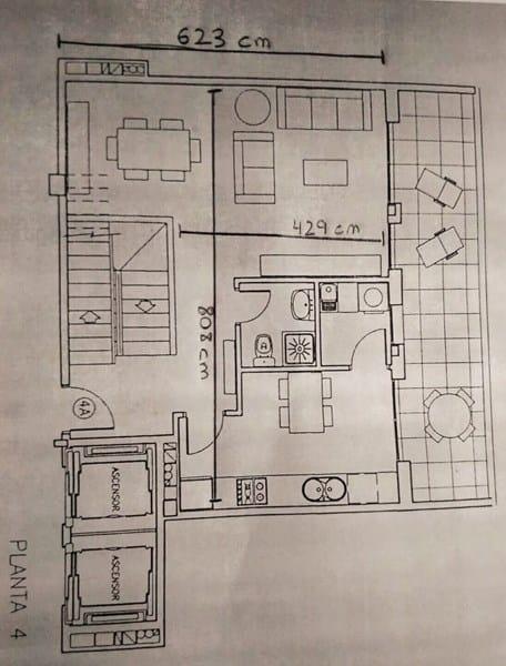 Es posible integrar cocina, salón y comedor en este espacio ...