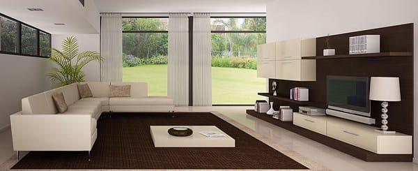 C mo decorar un sal n cocina de 18m con suelo oscuro decoraci n - Salones con muebles oscuros ...