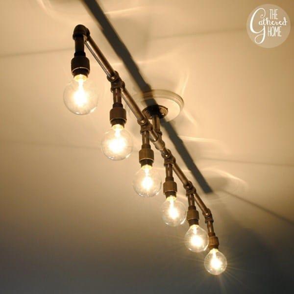 C mo cablear l mpara de m ltiples luces electricidad - Como hacer una lampara de techo ...