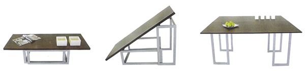 Mesa centro convertible en comedor decoraci n - Mesa de centro convertible en mesa de comedor ...