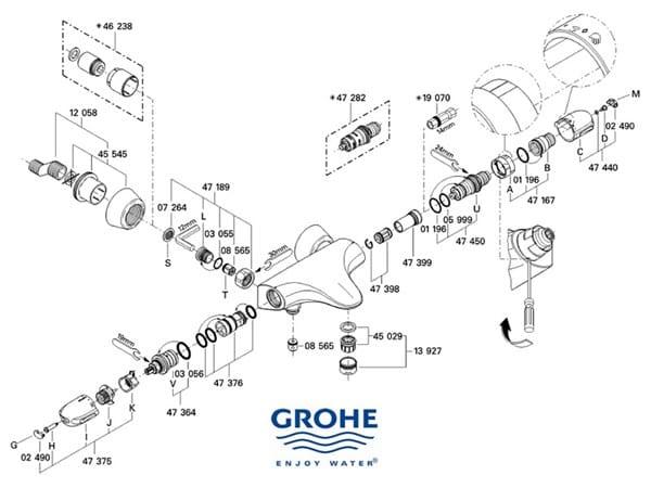 Grifer a de ducha grohe 34065 pierde agua por la alcachofa for Ducha termostatica grohe