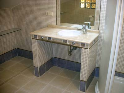 Mueble del ba o decoraci n for Bajo lavabo de obra