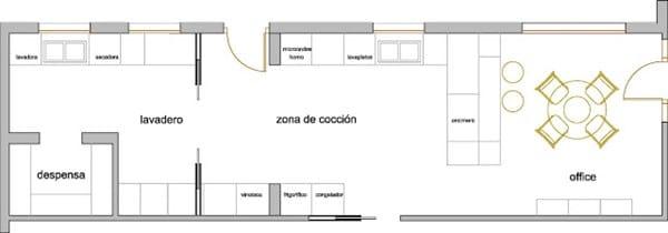 Como dise ar una cocina con pen nsula decoraci n for Disenar plano cocina