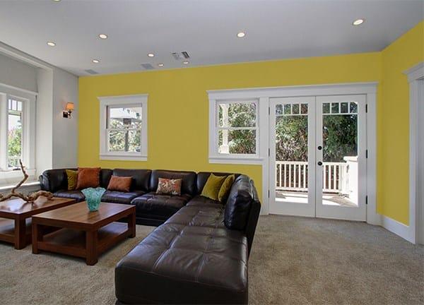 C mo combinar ventanas de color madera con las puertas y - Combinar color naranja decoracion ...