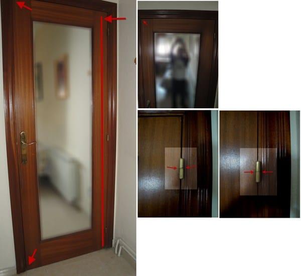 Puerta madera descolgada descuadrada roza carpinter a - Como arreglar puertas de madera ...