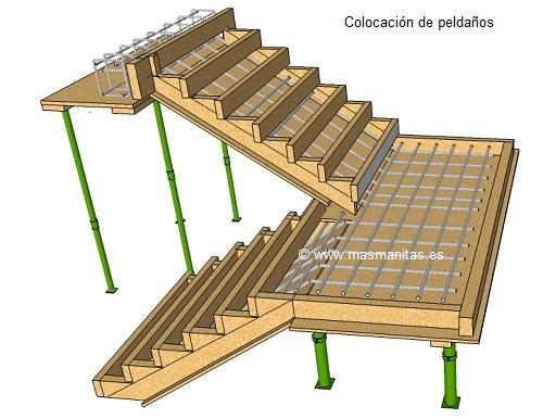 Escalera exterior de hormig n alba iler a for Como trazar una escalera de caracol de concreto