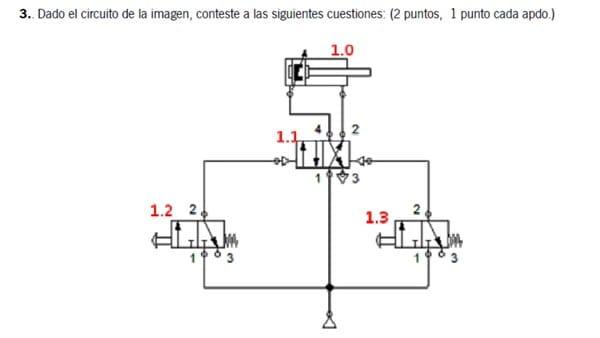 Circuito Neumatico Simple : Examen de tecnología industrial circuito neumático