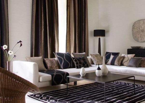 Dormitorio marron chocolate y beige gallery of primera - Cortinas marron chocolate ...