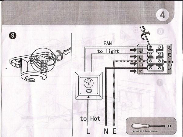 C mo se conecta un ventilador de techo con luz si viene - Instalacion de ventilador de techo ...
