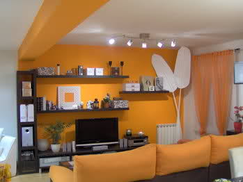 Pintar y decorar sal n de 21m decoraci n - Pintar salon dos colores ...