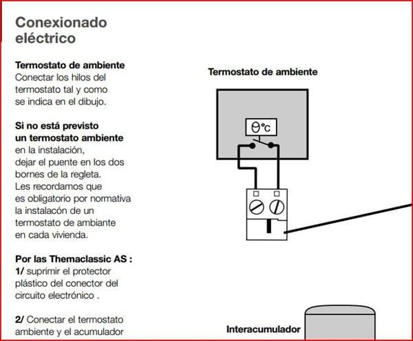 instalaci n un termostato ambiente a una caldera