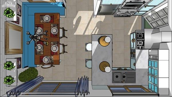 Como dise ar una cocina con pen nsula decoraci n for Como disenar mi cocina por internet