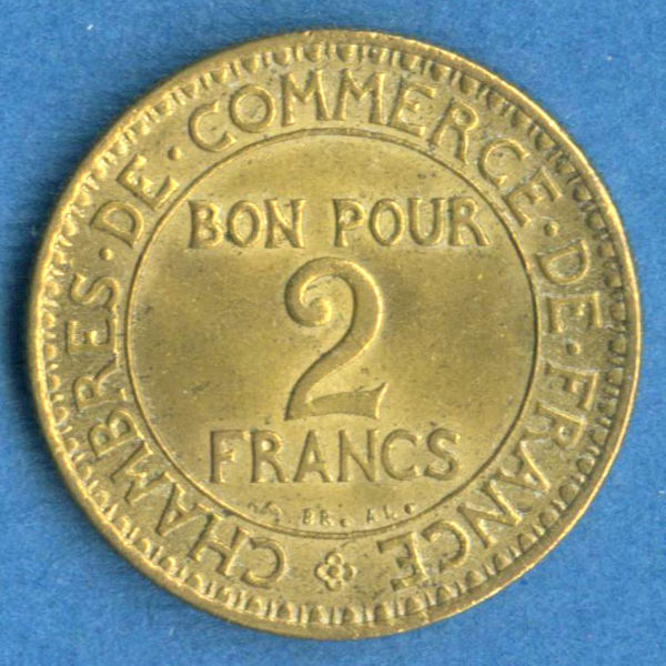 Moneda francia a o 1925 coleccionismo for Chambre de commerce de france bon pour 2 francs 1923
