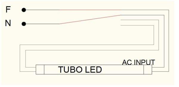 Conexióncableado 4P Ingeniería de LED tubos 2G11 nON0PX8wk