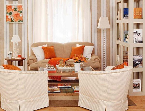 Sal n que gana de colores se puede utilizar con el gris ceniza decoraci n - Sofa marron de que color las paredes ...