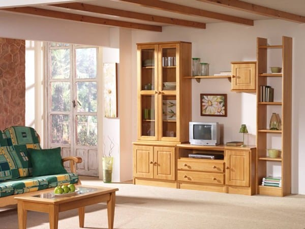C mo combinar ventanas de color madera con las puertas y for Comedores en pino