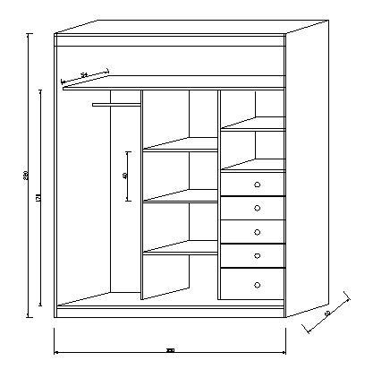 Armario ropero muebles for Planos para hacer muebles
