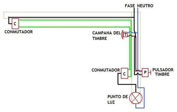 Quiero instalar una lampara con dos conmutadores y un - Como instalar un ventilador de techo con luz ...