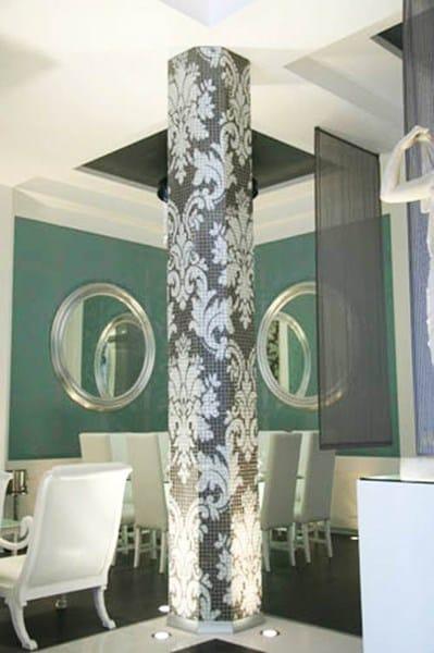 Qu hacer con columna redonda en sal n con ventanal - Decoracion columnas salon ...