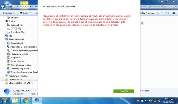 No Puedo Instalar El Corel Draw X8 En Windows 7 Software Y Aplicaciones