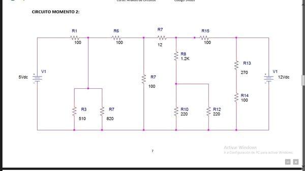 Circuito Mixto : Circuitos resistivos mixtos con dos fuentes de voltaje