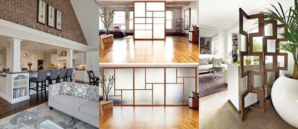 Dividir ambientes con cortinas estores en techo for Como dividir una habitacion