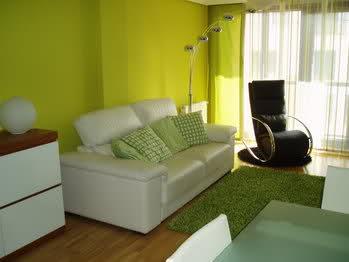 si te gusta de dos colores la pared del mueble puede ser en verde aceituna ls demas asi mas vivo la otra opcion es la del sofa berenjena y las demas