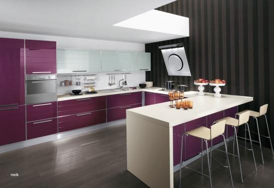 Color muebles de la cocina y pintura decoraci n - Cocinas con colores vivos ...