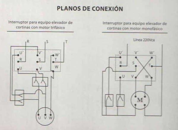 Como se conecta un motor trif sico con llave inversora de - Motor electrico para persianas ...
