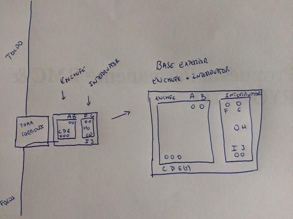 Conectar base doble exterior interruptor mas enchufe a la for Como instalar un enchufe