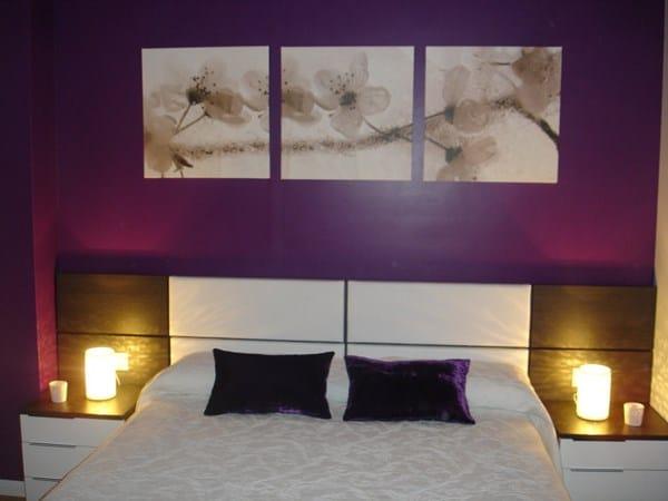 Cuadros y papel de rayas son compatibles decoraci n - Cuadros para una habitacion ...