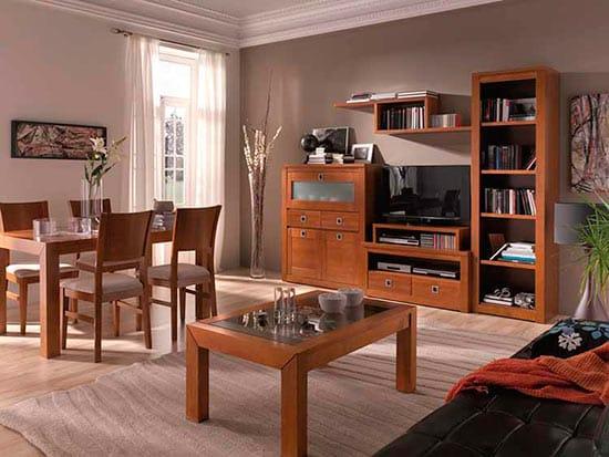 Piso de 80m c mo decorarla decoraci n - Combinar muebles en color cerezo y blanco ...