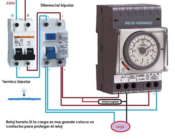 Como Instalar Un Reloj De Alumbrado Pero Cuando No Funcione Poder Encender Las Luces Que Controla El Reloj Con Un Interruptor Electricidad Del Hogar Todoexpertos Com