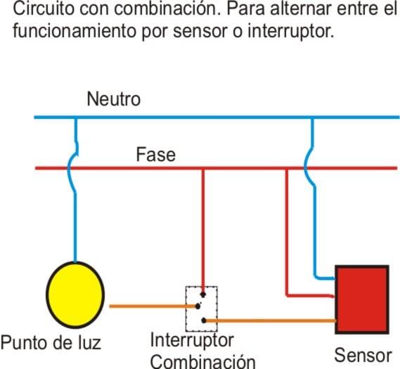 Detector De Movimiento E Interruptor Normal Conectados