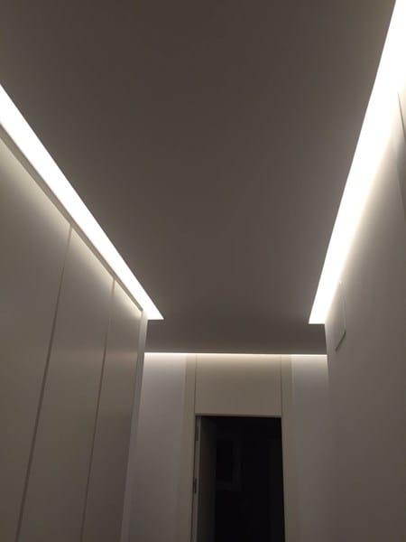 Falso Techo Con Luz Indirecta Electricidad Del Hogar