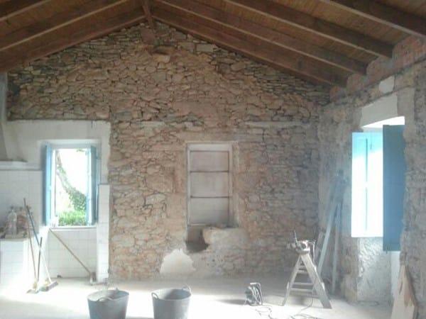 Aislar paredes piedra perpia o y suelo casa y jard n - Detector de humedad para suelos y paredes ...