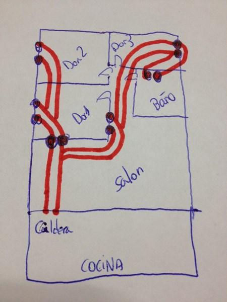 Circuito de calefacci n vivienda di metro tubo - Radiadores de calefaccion ...