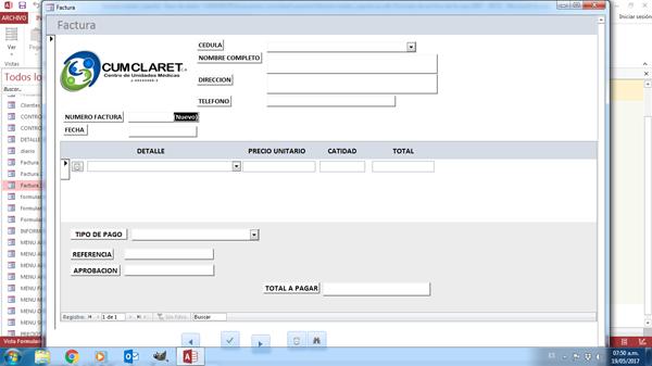 Hacer una b squeda de un formulario a otro en access 2013 - Registro propiedad cuellar ...