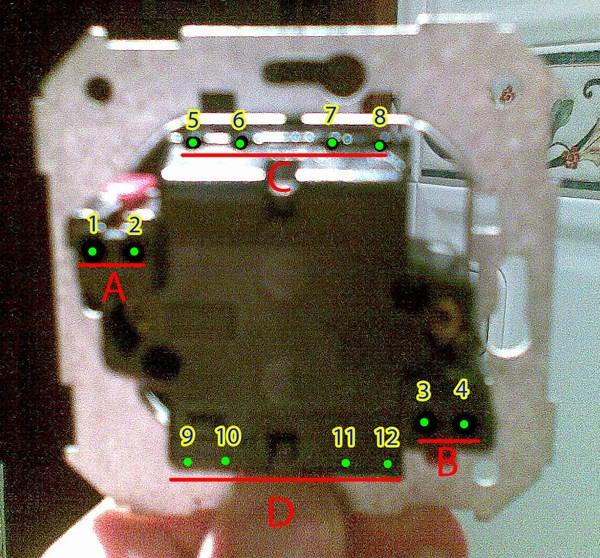 Doble interruptor conmutado electricidad del hogar - Modelos de interruptores de luz ...