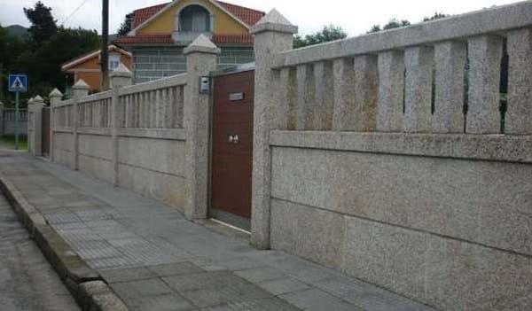 Hacer muro en finca en asturias alba iler a - Muros de ladrillo visto ...