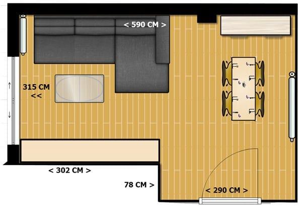 Crear dos ambientes comedor y sal n decoraci n - Salones con dos ambientes ...